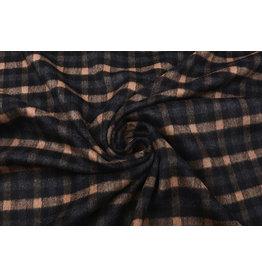 Woven Woolen Fabric Checkered Orange Brique