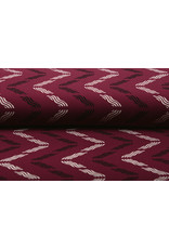 Crepe Polyester Wellen Bordeaux