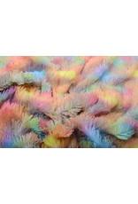 Lange Zottelplüsch Multicolor  Einhorn
