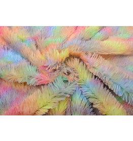 Lang Harige Bont Multi Color Unicorn