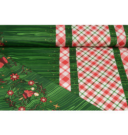 Christmas Fabric Checkered Green