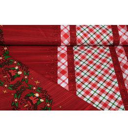 Weihnachtsstoff Kariert Rot