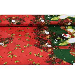 Christmas Fabric Christmas Bells Red