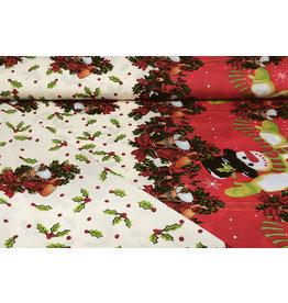 Christmas Fabric Christmas Bells Creme