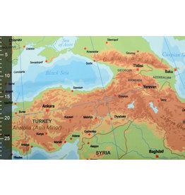 Digitaal Paneel Stretch Katoen Kaart Europa Blauw