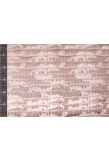 Alcantara, Suede, Suedine with Lacquer Crocodile Powder Pink