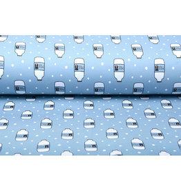 Stenzo Cotton Jersey Koeienmelk Blauw