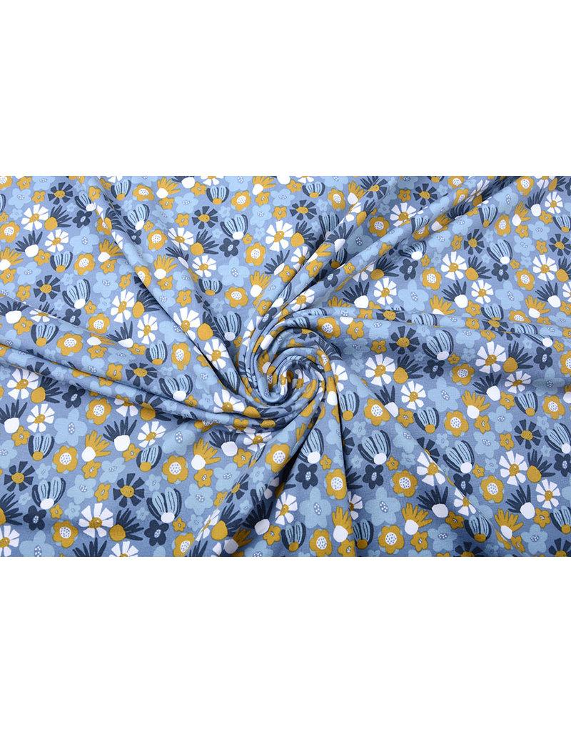 Stenzo Baumwolljersey Blumen