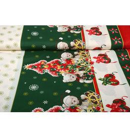 Christmas Fabric Christmas Bears Green