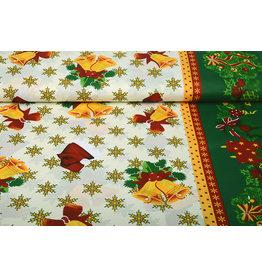 Christmas Fabric Snowflakes Green