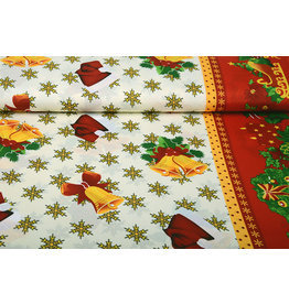 Christmas Fabric Snowflakes Red