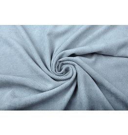 Cordstoff 8 W Grau Blau
