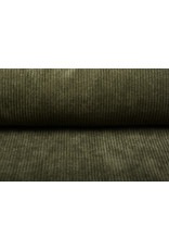 Cordstoff 8 W Armeegrün