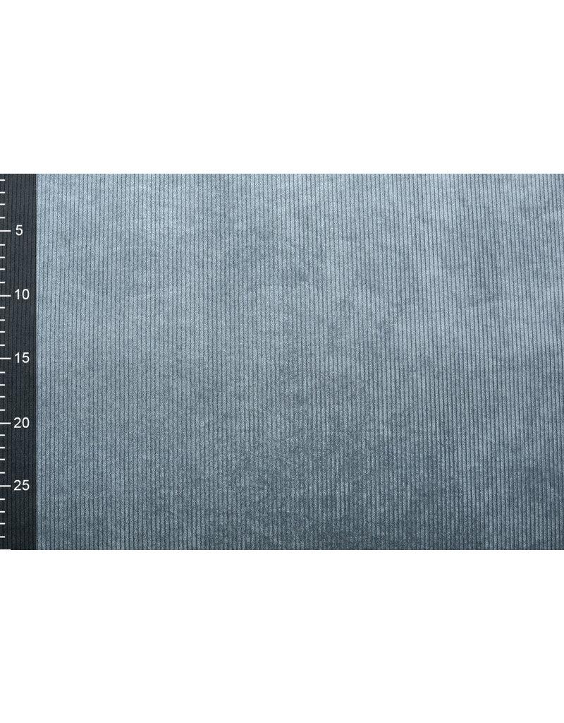 Cordstoff 8 W Grau