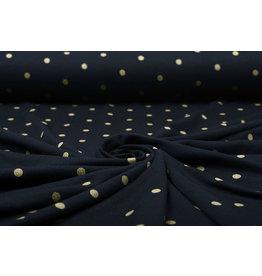 Cotton Jersey Digitaal Gold Spots Marine Blauw