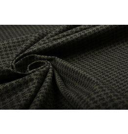 Jeans Stretch Pied de Poule Armeegrün