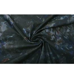 Stretch Jeans Flower Marineblau