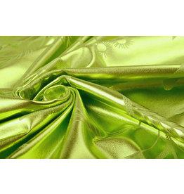 Bedruckt Lamé Limettengrün
