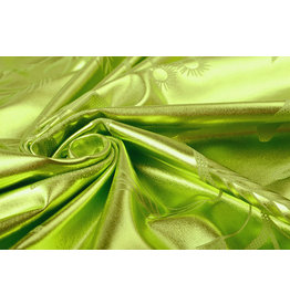Printed Lamé Lime Green