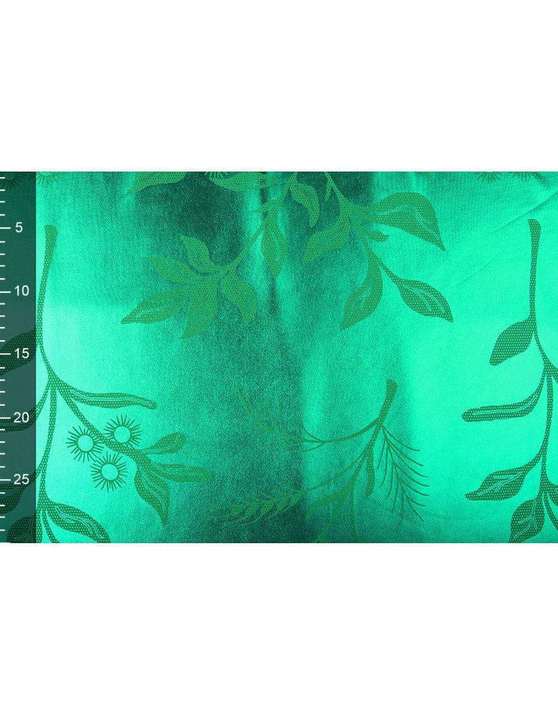 Bedruckt Lamé Grasgrün