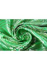 Brokat Mazuri Waves Grasgrün