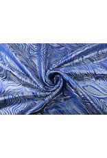 Brokat Mazuri Waves Kobaltblau