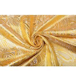 Brokat Mazuri Waves Gelb