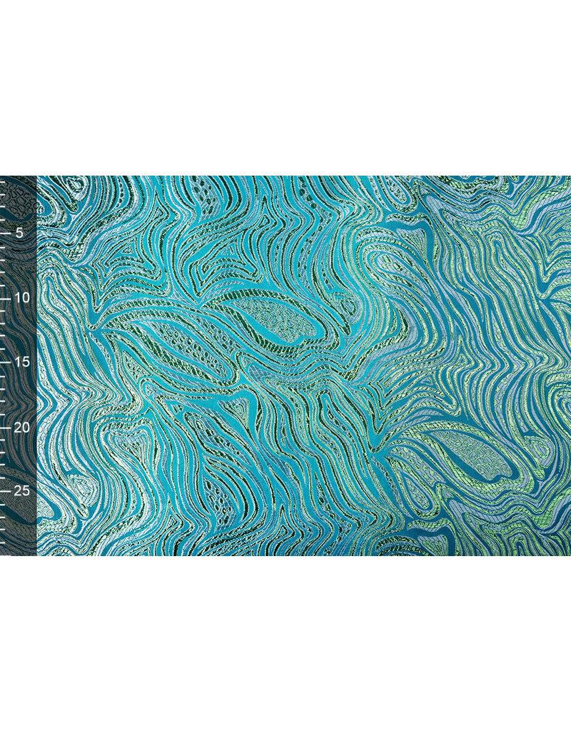 Brokat Mazuri Waves Aqua