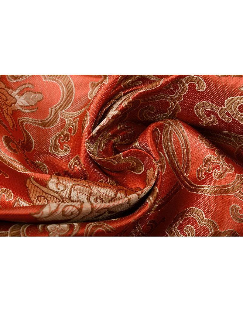 Brokat Ornament Barock Rot