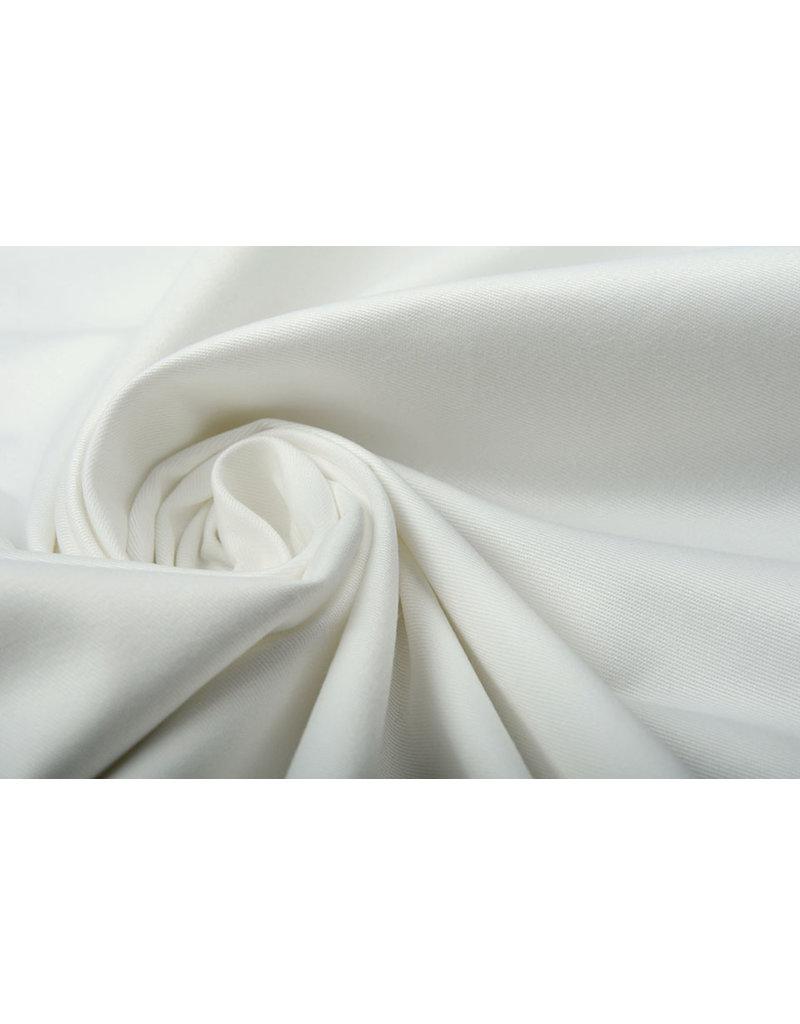 100% Twill Baumwolle Off White
