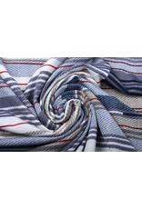Lycra Trikot Streifen Blau Weiß