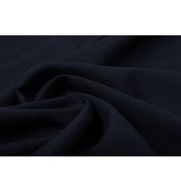Wollstoff Viskose Kammgarn Marineblau