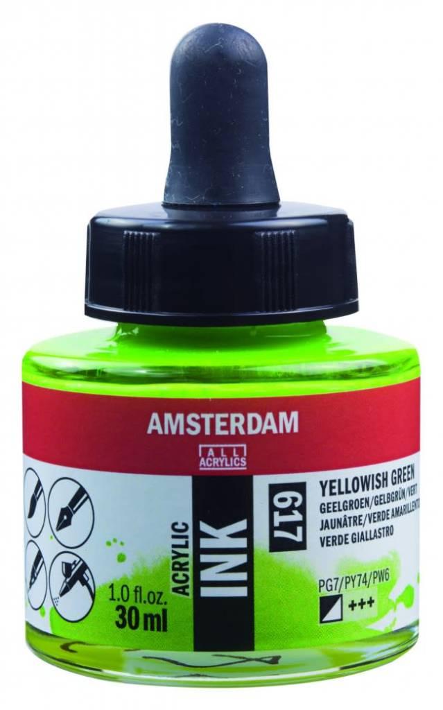 Amsterdam acryl inkt 30ML Geelgroen
