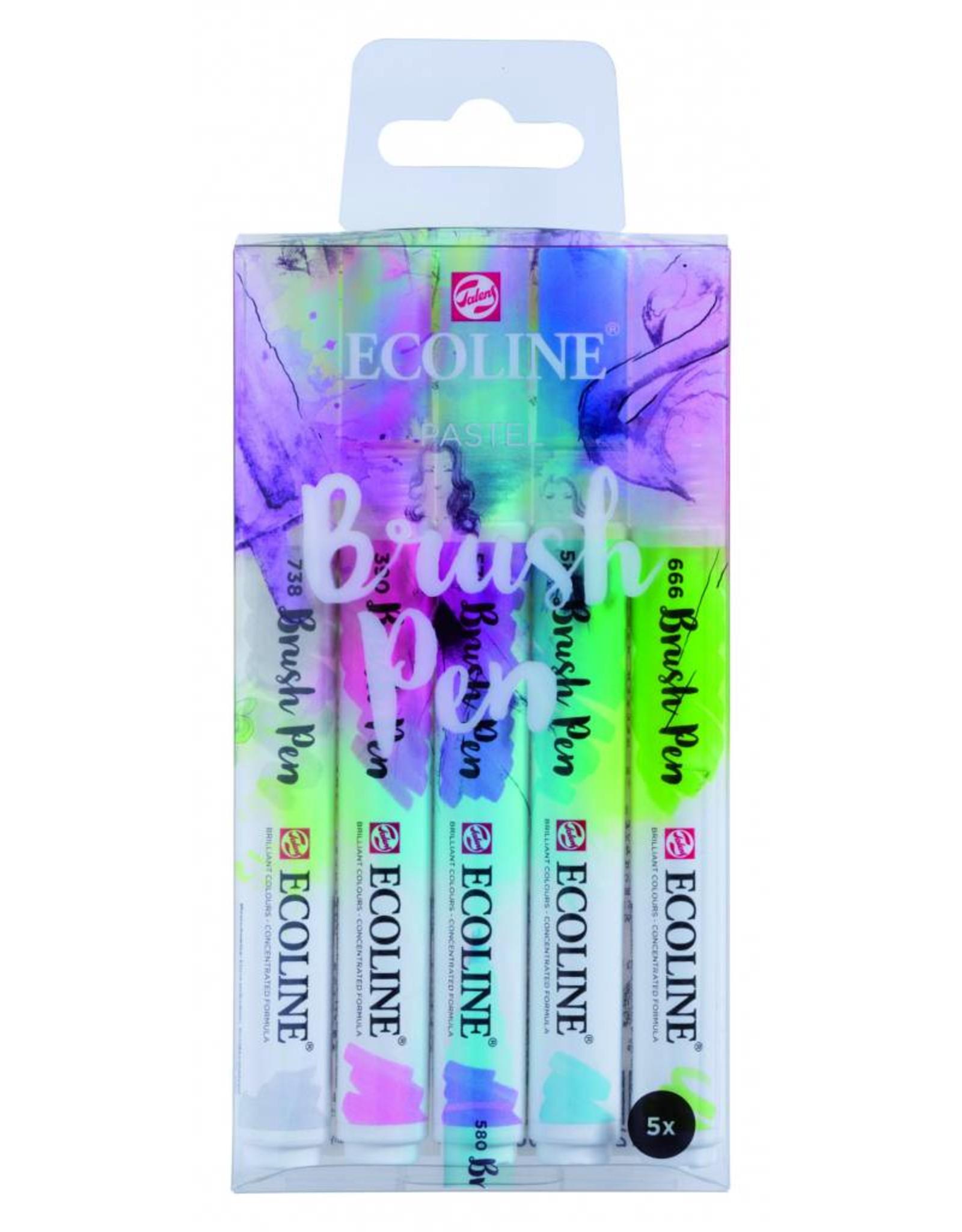 Ecoline brushpen set pastel