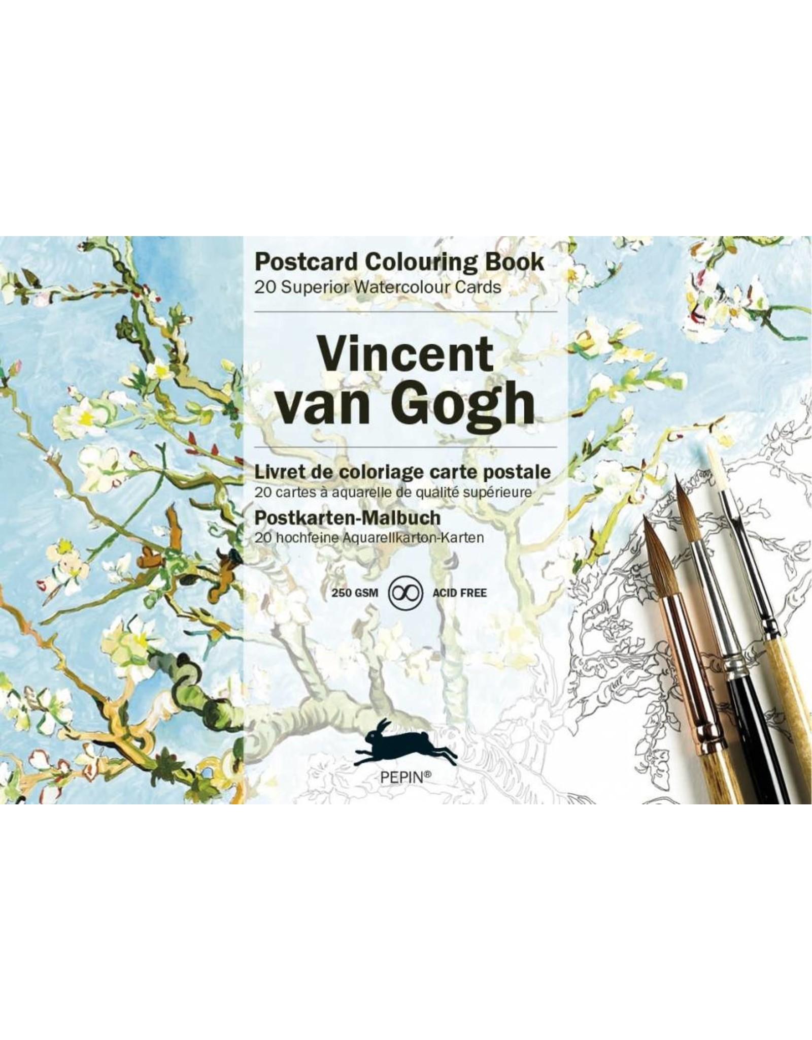 Postcard colouring book - Vincent Van Gogh