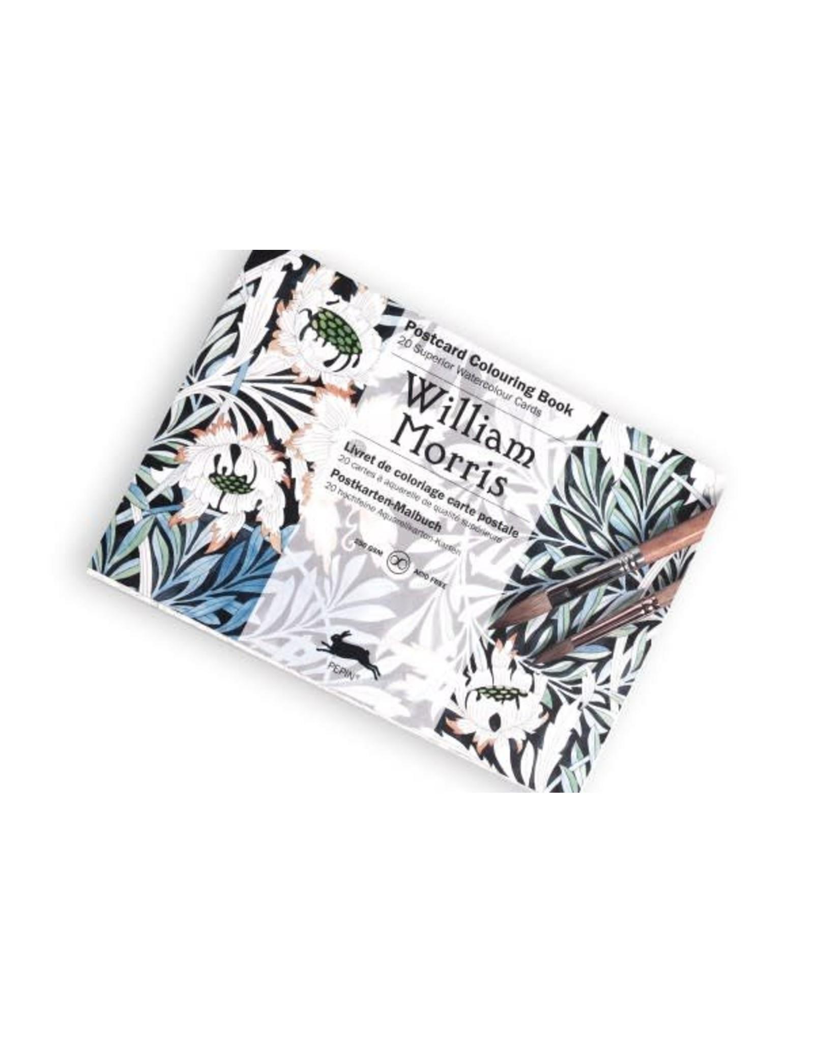 Postcard colouring book - William Morris