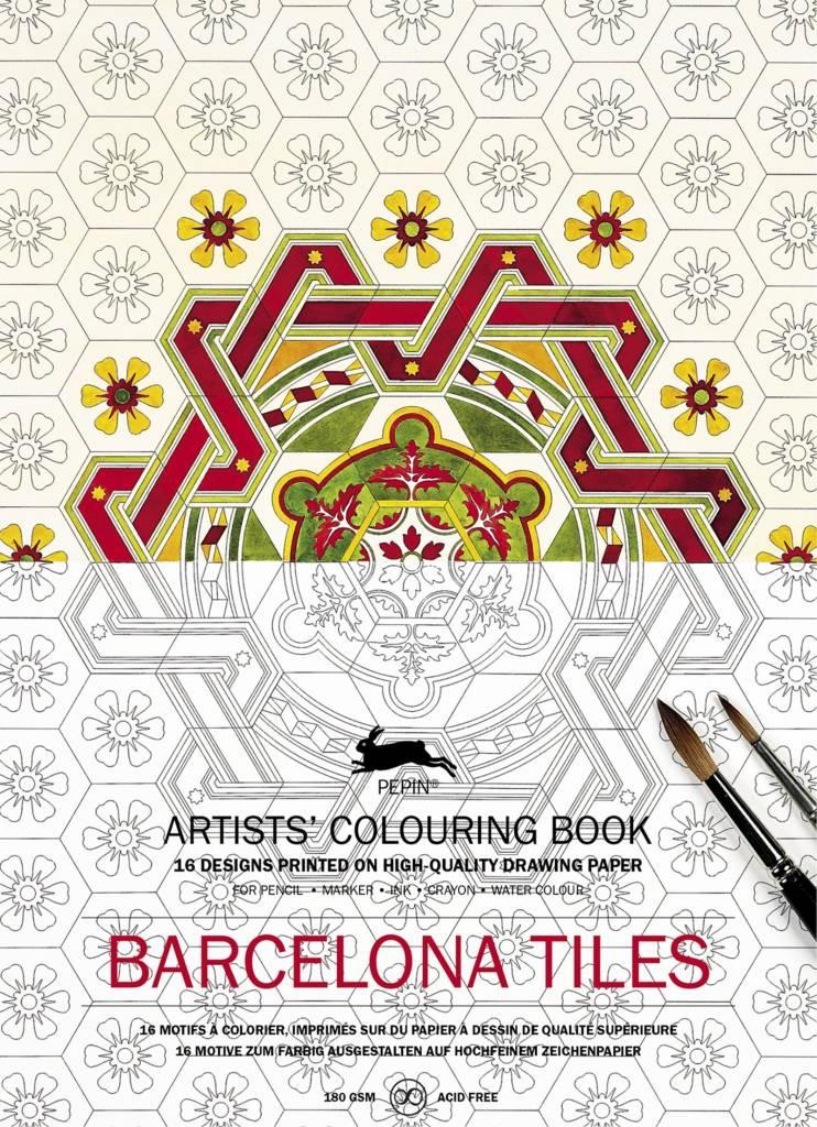 kleurboek - Barcelona tiles