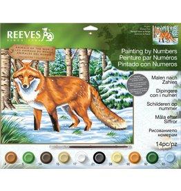 Schilderen op nummer Snowy fox