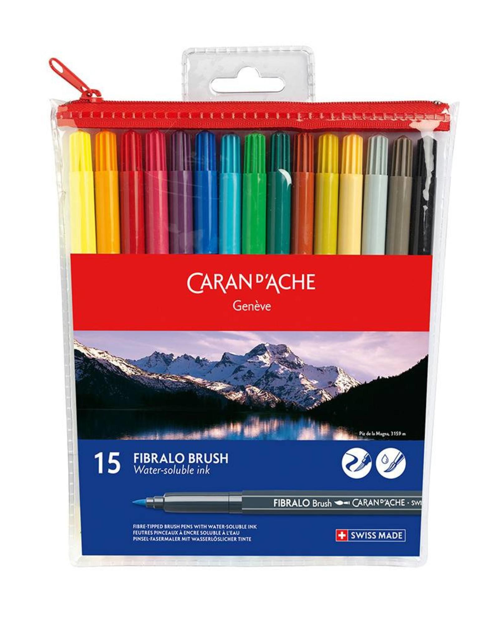 Caran d'Ache Fibralo brush set 15