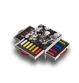 Conté carré set 18 kleuren