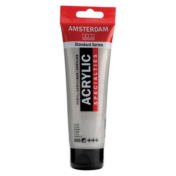 Amsterdam acrylverf Zilver 120ML