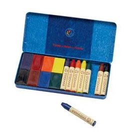 Assortment 8 beeswax cubes + 8 beeswax crayons