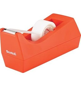 Scotch Tape dispenser orange + magic tape