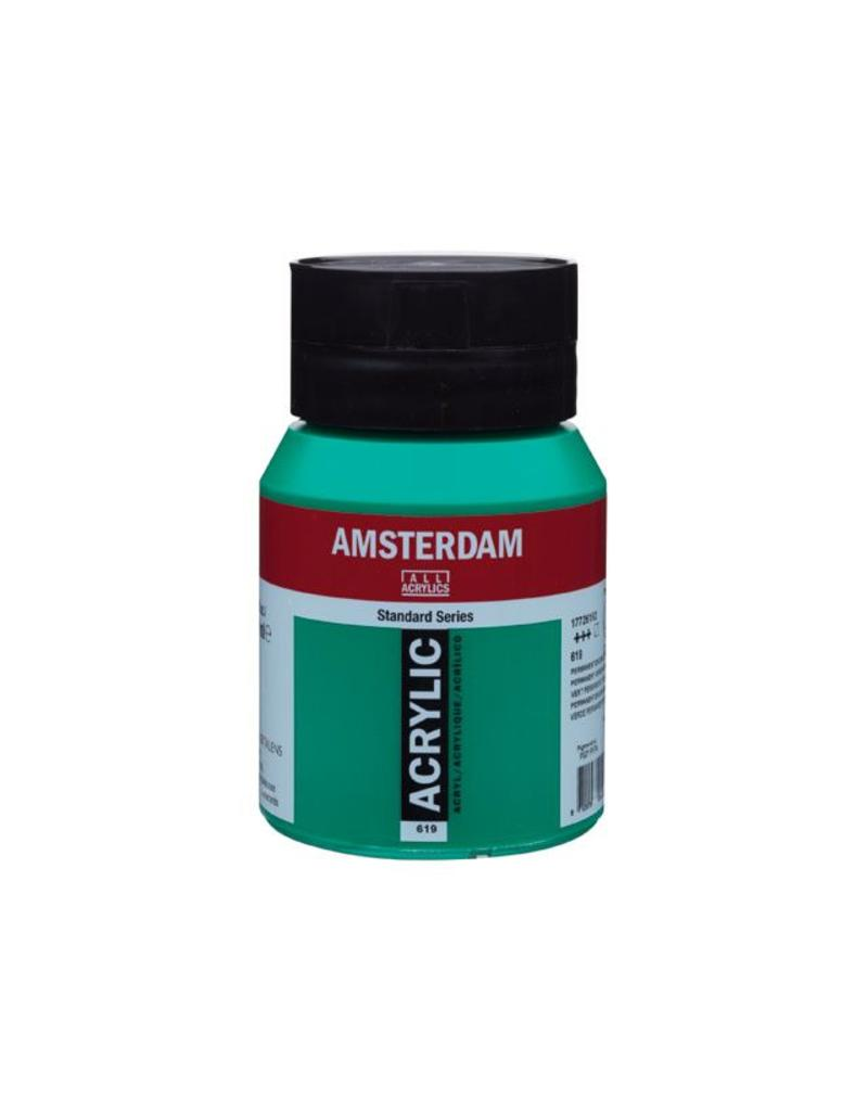 Talens Amsterdam acrylverf Permanentgroen donker 500ML