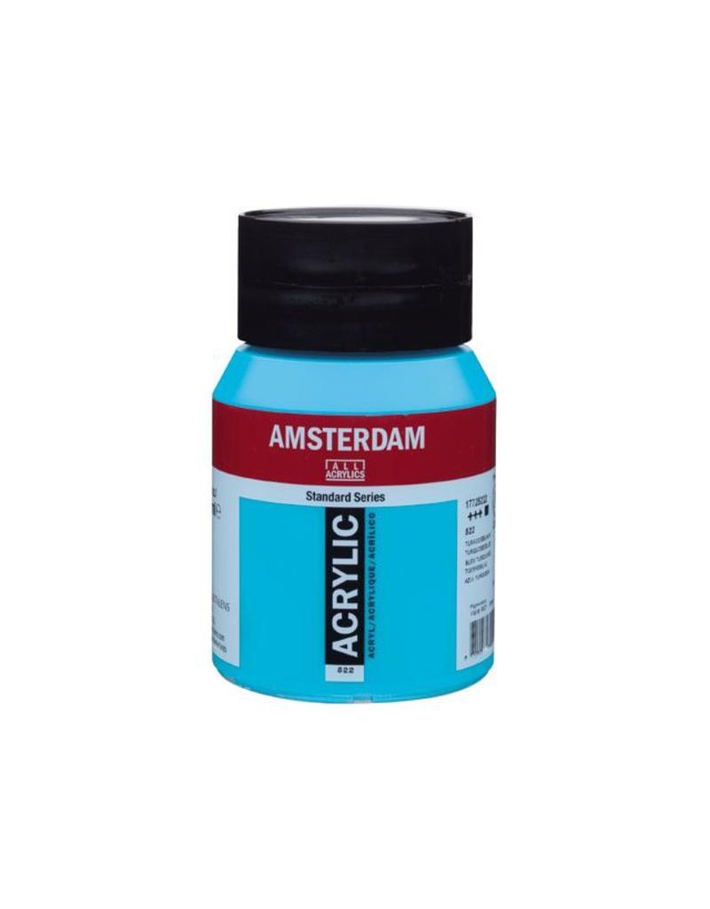 Talens Amsterdam acrylverf Turkooisblauw 500ML