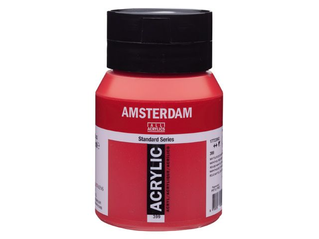 Talens Amsterdam acrylverf Naftolrood donker 500ML