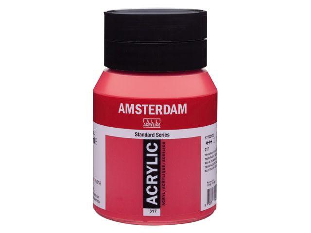 Talens Amsterdam acrylverf Transparant rood middel 500ML