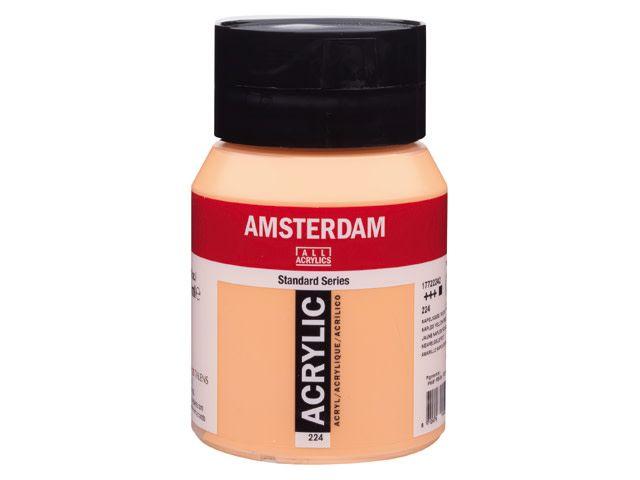 Talens Amsterdam acrylverf Napelsgeel rood 500ML