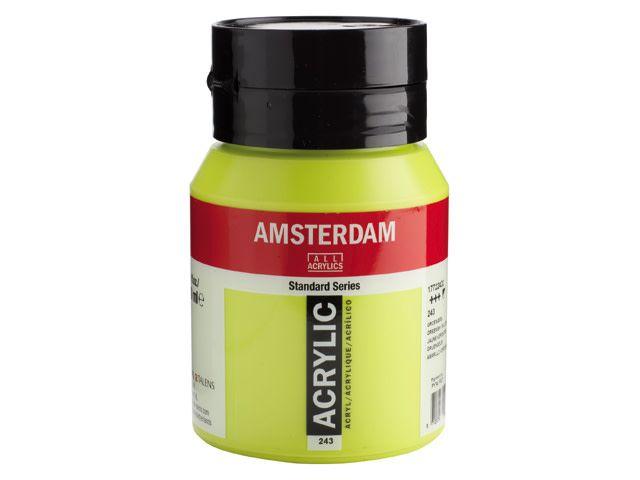 Talens Amsterdam acrylverf Groengeel 500ML