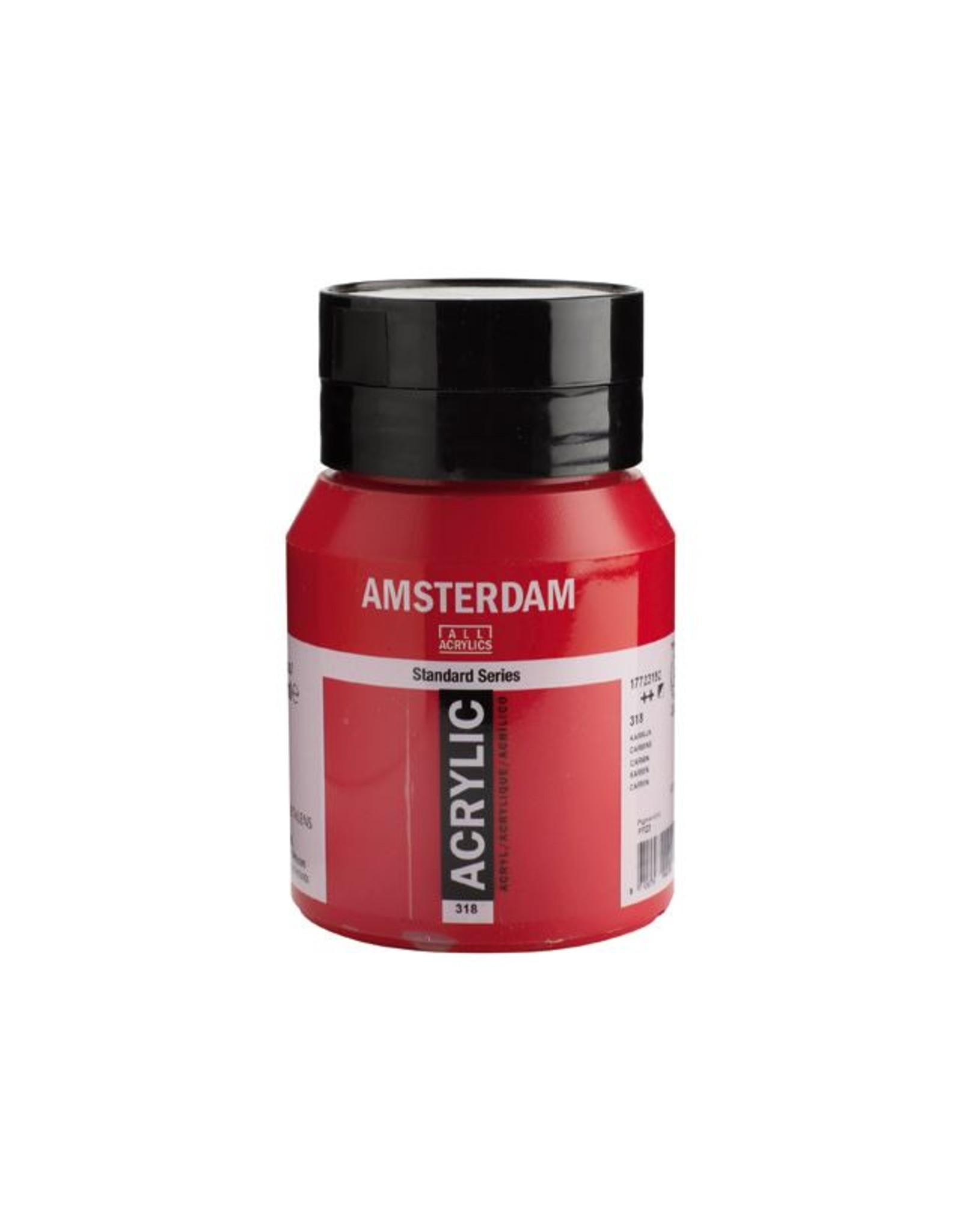 Talens Amsterdam acrylverf Karmijn 500ML